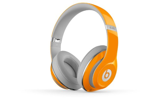 Beats By Dre 2.0 Orange Studio Special Edition Over Ear Headphones