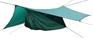 Hennessy Hammock Safari Deluxe Asym Zip with Tree Straps and Rainfly by Hennessy Hammock