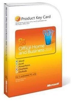 Microsoft Office Home & Business 2010 - Product Key Card 32/64bit