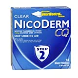 Nicoderm Cq Step 2 Clear Patches, 14 mg, 14 Units (Pack of 6)