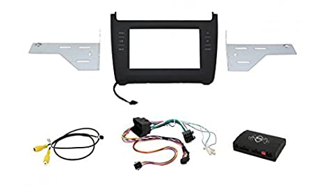 """Maxxcount 2DIN infotainment 2DIN kit """"""""-noir/blanc-façade au code chiffré-touches éclairées (interface de commande au volant cAN-bus video-adaptateur pour vW polo 6 quater"""