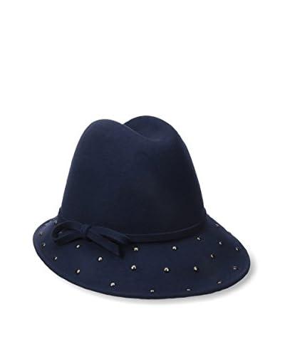 Giovannio Women's Dot Hat, Navy
