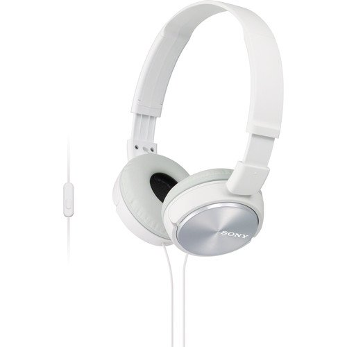 Sony Premium Lightweight Extra Bass Stereo Headphones With In-Line Microphone And Remote For Android Smartphone (White)