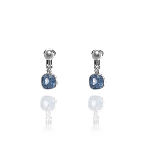 Fiorelli Blue Cubic Zirconia Square Clip On Earrings