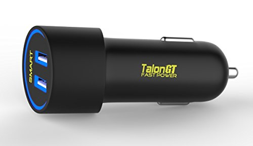 Fast Power C224A - Phone Charger, USB Car - Unique Stylish Design - Duel Port, 24 Watt, 4.8 Amp - Charges Best range of Devices, iPhone, Android, Samsung Galaxy, LG, HTC (30 Day (Lighted Car Charger compare prices)
