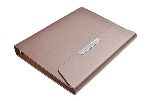 """Monumentum Document Folder / Padfolio / Notebook / Conference Folder A5, 9.06"""" X 7.09"""" X 0.79"""", Dark Brown Leatherette, Envelope Style, Notepad With 100 Sheets, Mod. Dh-A5-04 (Us)"""