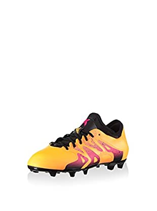 adidas Botas de fútbol X 15.1 FG/AG (Naranja / Rosa)