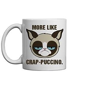 A Grumpy Cat Cappuccino: 11oz Ceramic Coffee Mug