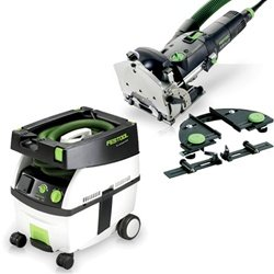 Festool Df 500-Q Set Domino Jointer + Ct Midi Dust Extractor Package front-597054