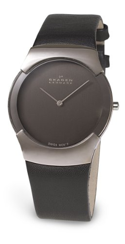 Skagen Gents Watch Swiss Slimline Leather 582Xlslm