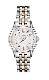Bulova Two-tone Steel Bracelet Brushed Silver Dial Women's watch #98L143