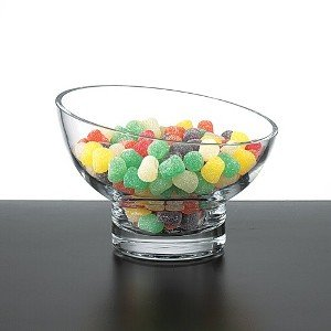 CRYSTAL SLANT BOWL - CRYSTAL BOWL ON A SLANT - Candy Dish