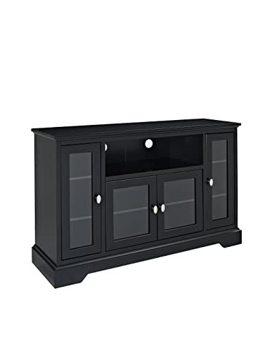 Walker Edison Wood Corner TV Stand, Black