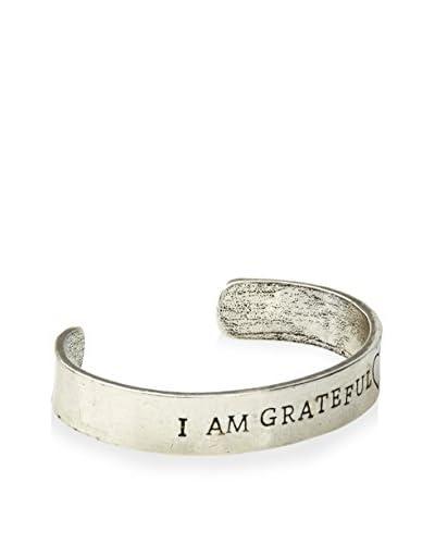 "Alisa Michelle ""I Am Grateful"" Silver Cuff"