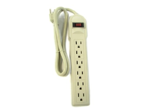6 Outlet Power Electrical Wall Plug Socket Surge Protector Strip Switch Adapter