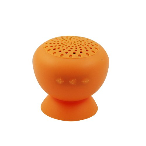 Ustop™Orange Portable Waterproof Rechargeable Hands-Free Bluetooth Mini Music Speakers With Suction For Mp3/Mp4 Player Iphone 5S 5C 5 4S 4 Ipad 4 3 2 Ipod Samsung Galaxy S4 S3 S2 Note 3 2 Sony Ericsson Htc Nokia Tablet Pc Laptop