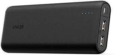 Anker PowerCore 20100 Externer Akku - kompakter als jemals zuvor - extrem hohe Kapazität 20100mAh 2-Port 4.8A Output Power Bank Ladegerät mit PowerIQ Technologie für iPhone, iPad und Samsung Galaxy und weitere (Schwarz/Matt)