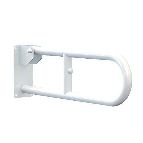Aquasanit - Maniglione serie Care ribaltabile in acciaio laccato bianco - A10690AC008