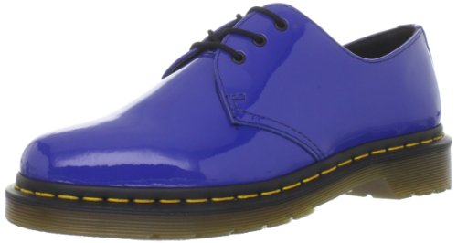 Dr. Martens Women's Patent 1461 Royal Blue Casual Lace Ups 10084401 3 UK