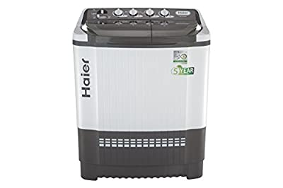 Haier HTW80-185VA Semi-automatic Top-loading Washing Machine (7.8 Kg, Grey)