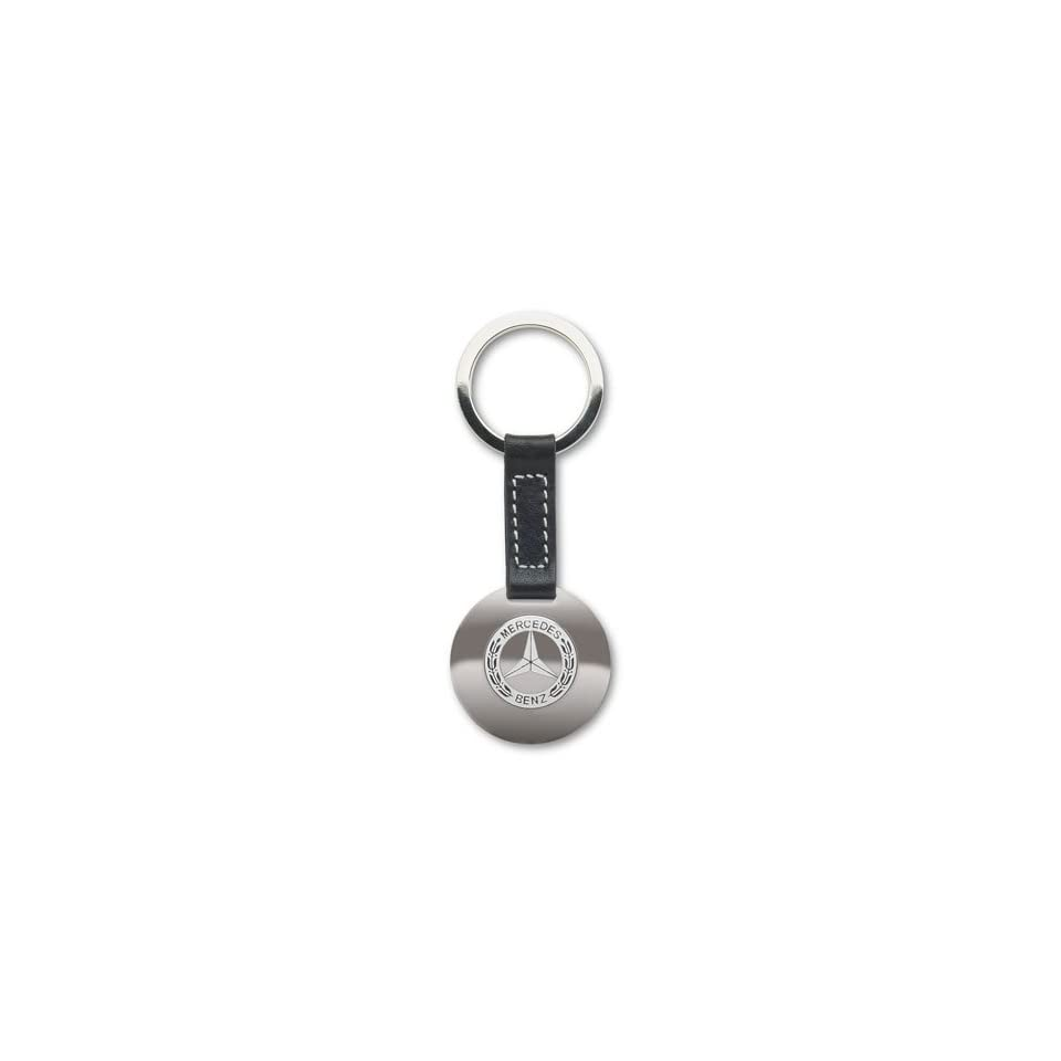 Genuine Mercedes Benz Classic Black Leather Key Ring
