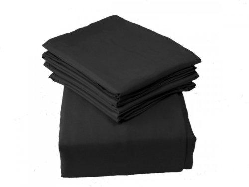 Regal Comfort Super Soft Brushed Microfiber Sheet Set 1600 Thread Count King Black front-886064