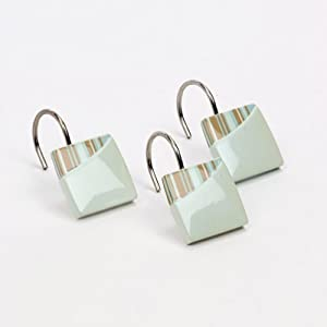 Avanti Linens By The Sea Shower Hooks, White