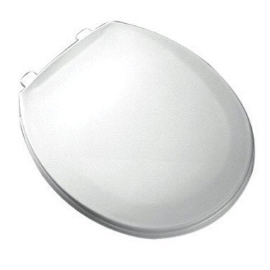 Bemis 800EC000 Plastic Round Toilet Seat with Easy Clean and Change Hinge, White