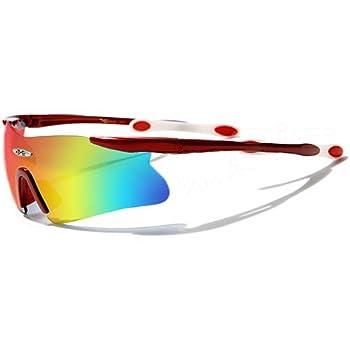 X-Loop Lunettes de Soleil - Sport - Cyclisme - Ski - Conduite - Motard / Mod. 3555 Rouge / Taille Unique Adulte / Protection 100% UV400