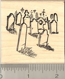 Cemetery Rubber Stamp