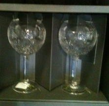 Waterford Millennium Peace Goblets ~Pair~