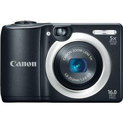 Canon PowerShot A1400 16.0 MP Digital Camera with 5x Digital Image Stabilized Zoom 28mm Wide-Angle Lens and 720p HD Video Recording (Black)