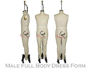 (ST-MaleFULLSIZE38) Model 601, Professional Dress Form Male Full Body Size 38 (Color: St-malefullsize38)