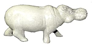 African Soapstone Hippo Carving 20cm