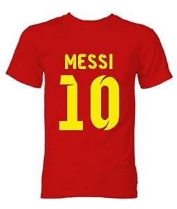 Amazon.com : Barcelona Lionel Messi Hero T-Shirt (Red