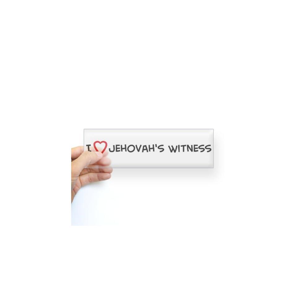I Love Jehovahs Witness Bumper Sticker Sticker Bumper   Standard