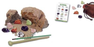 Crystal Mining Excavation Science Kit (mineral rock geology scientist digging kit for the aspiring geologist).