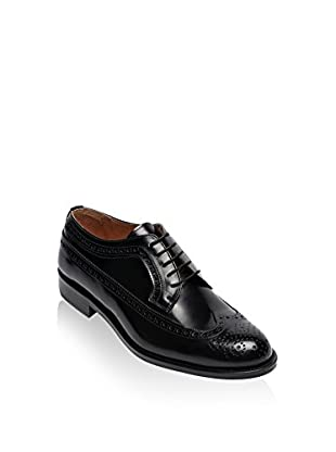 British Passport Zapatos derby Wing Cup (Negro)