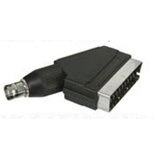 Scart Plug BNC Socket Adapter CCTV Television