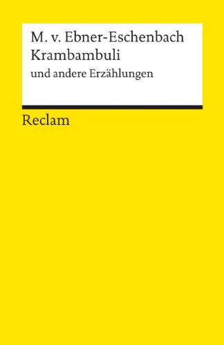 Krambambuli Und Andere Erzahlungen (German Edition)