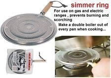 2 x SIMMER RING PAN MAT HEAT DIFFUSER FOR ELECTRIC OR GAS COOKER - DIAMETER 21cm by Simmer Ring from Simmer ring