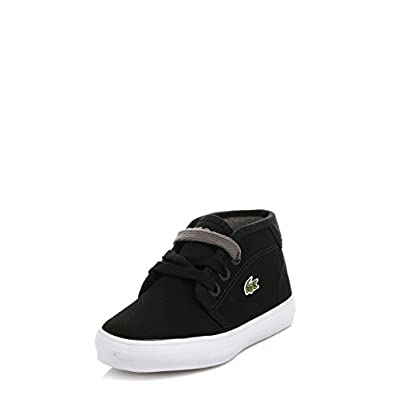 lacoste chaussures premiers pas pour b b gar on noir noir 19 eu. Black Bedroom Furniture Sets. Home Design Ideas