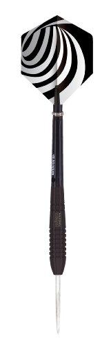 Unicorn T80 - Freccette in tungsteno, custodia sottile, COLORE ARGENTO (nero), 23g