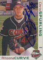 Chris Spurling Altoona Curve - Pirates Affiliate 2002 Grandstand Autographed Hand... by Hall of Fame Memorabilia