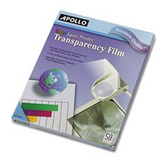 ** Color Laser Printer/Copier Transparency Film, Letter, Clear, 50/Box