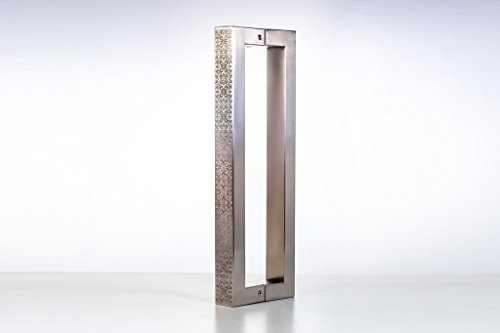 Modern & Contemporary Square/Rectangle-Shape Style with Engraving, Carving 600mm / 24 inches Push-Pull Stainless-Steel Door Handle for Entrance/Entry/Shower/Glass/Shop/Store, Interior/Exterior Barn & Gates Rectangular - Satin Brushed Finish (Entrance Door Handle compare prices)