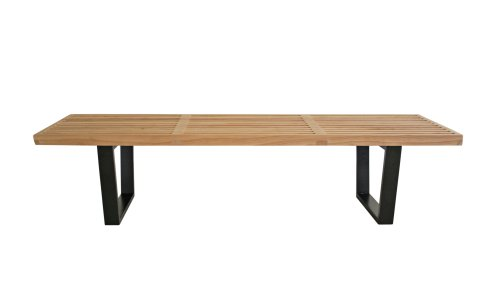 Baxton Studio Nelson Wooden Bench, Natural Picture