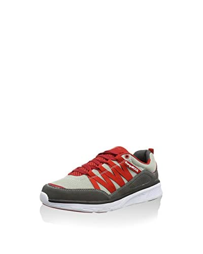 KangaROOS Zapatillas Sweep Run Gris / Rojo