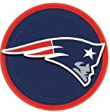 9 inch round plates - new england patriots