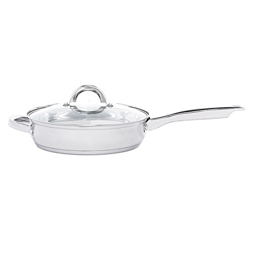 Heim Concept 12-Piece Induction Ready Stainless Steel Cookware Sets with Glass Lid, Silver on Cookware Sets Stainless Steel | Cookware Sets on Sale